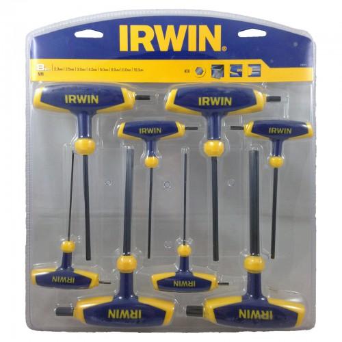 Zestaw 8 kluczy imbusowych typu T: 2.0 - 10.0 IRWIN