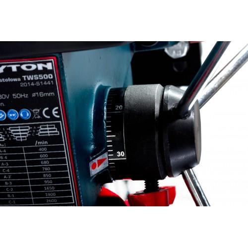 Wiertarka stołowa 500W imadło uchwyt 16mm, Tryton TWS500