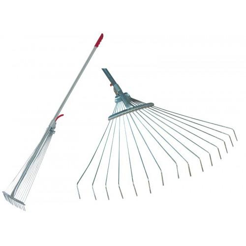 Grabie druciane regulowane do trawy i liści 20-65cm Mega
